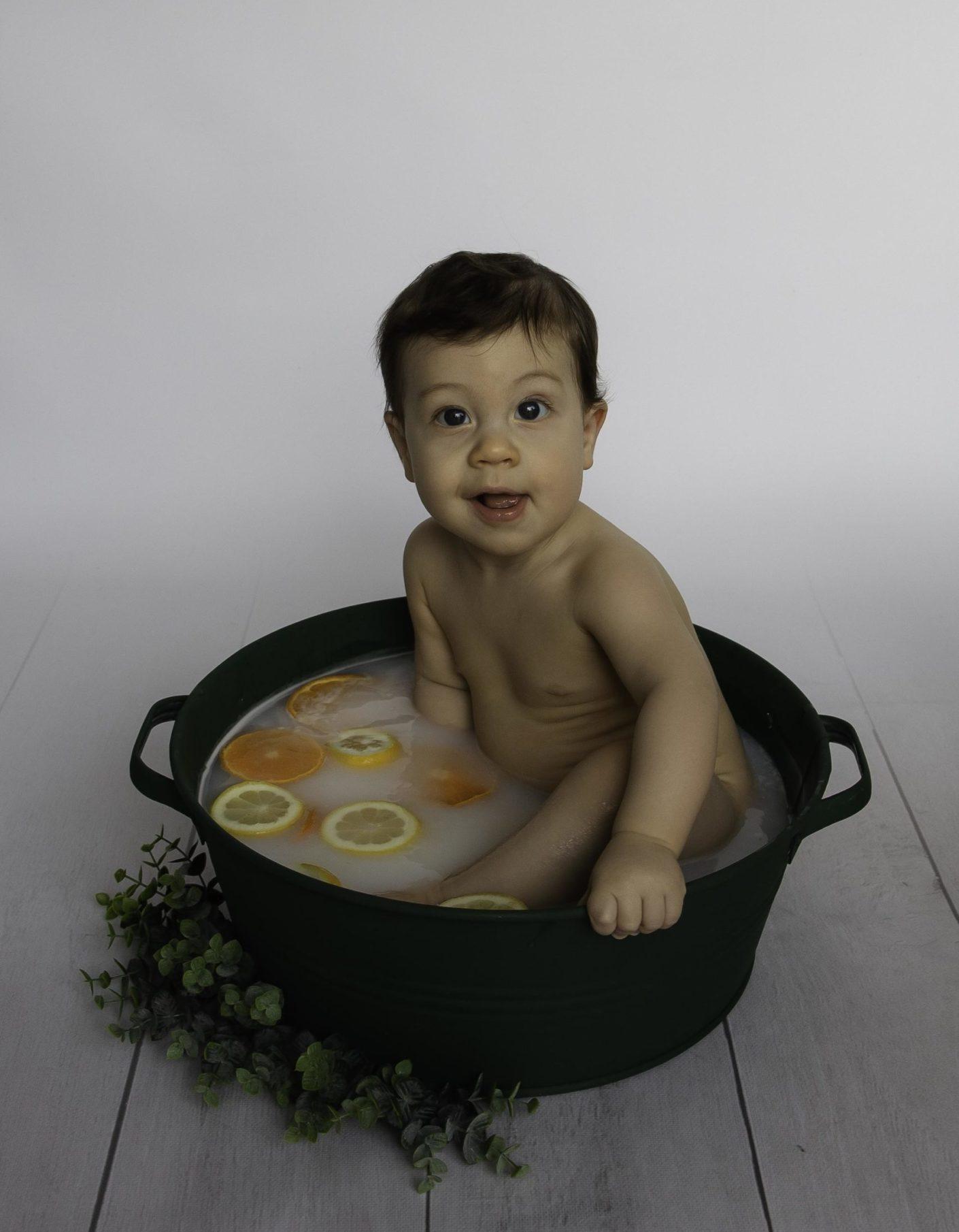 Séance bain de lait agrumes